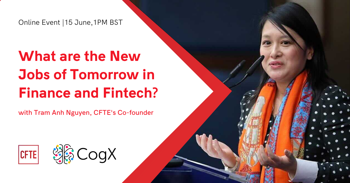 What are the New Jobs of Tomorrow in Finance and Fintech? - Online Event at CogX